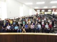 Sessão com homenagem cívica executada pelo CMEI Ciranda do Saber
