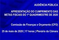AUDIÊNCIA PÚBLICA - apresentação das metas fiscais - 1º quadrimestre/2020