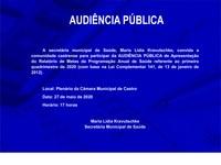 AUDIÊNCIA PÚBLICA | Apresentação do Relatório de Metas da Programação Anual de Saúde