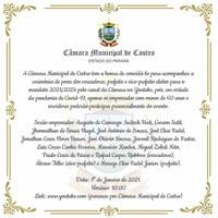 Convite para sessão solene de posse de prefeito, vice e vereadores